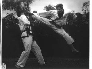 Vic Martinov demonstrating power kicking