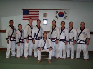 Students from South Bay Moo Duk Kwan training with Vic Martinov