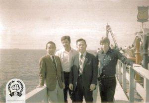Hwang Kee, VIc Martinov, Jae Joon Kim and Chuck Norris
