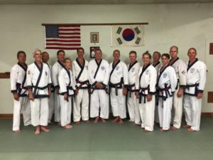 Vic Martinov students attending a memorial training session at South Bay Moo Duk Kwan in 2015