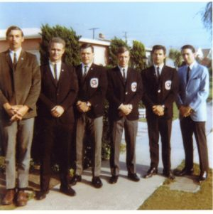 Victor Martinov standing next to Mr. Chuck Norris and his students second from the right 1967